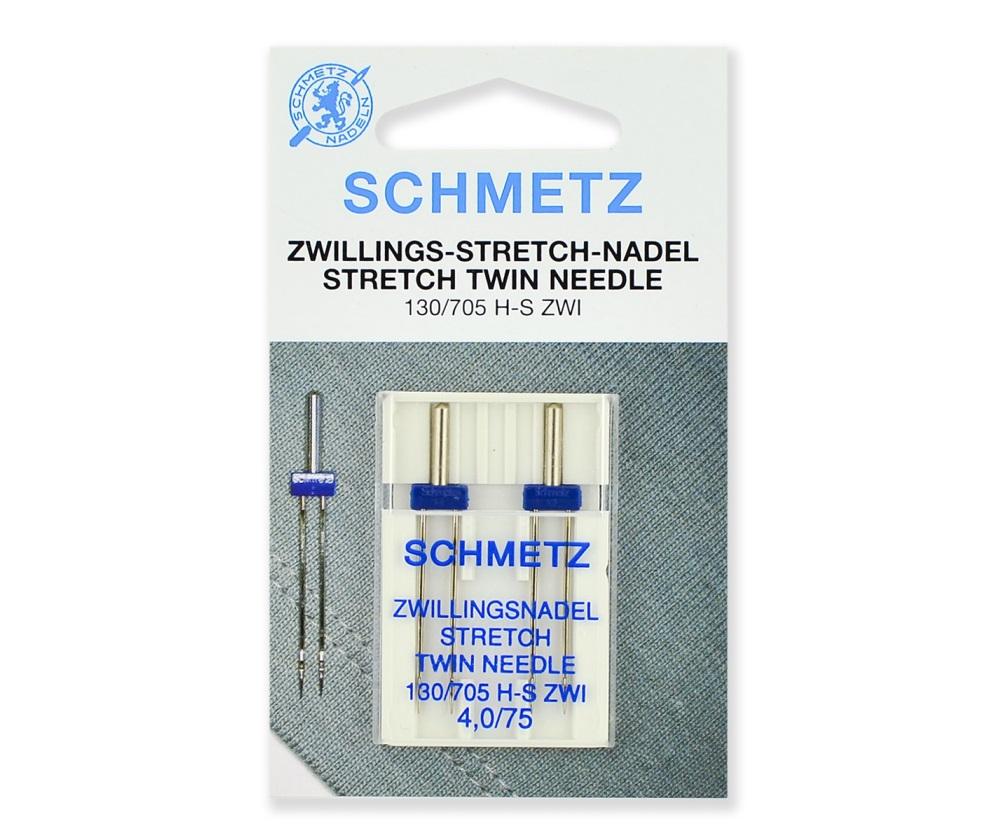 Иглы Schmetz двойные стрейч № 75/4.0, 2 шт.