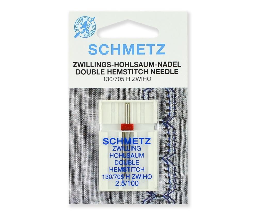 Иглы Schmetz для мережки двойные № 100/2.5, 1 шт.