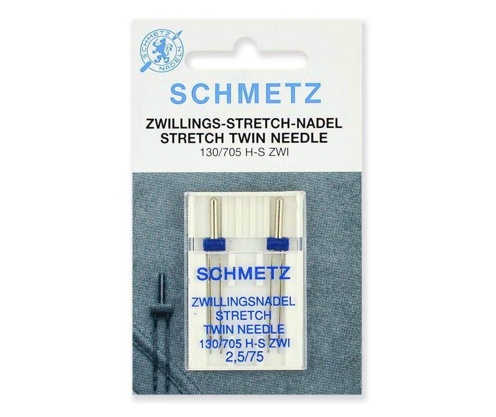 Иглы Schmetz двойные стрейч № 75/2.5, 2 шт.