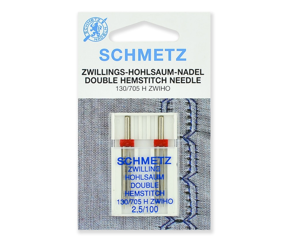 Иглы Schmetz для мережки двойные № 100/2.5, 2 шт.