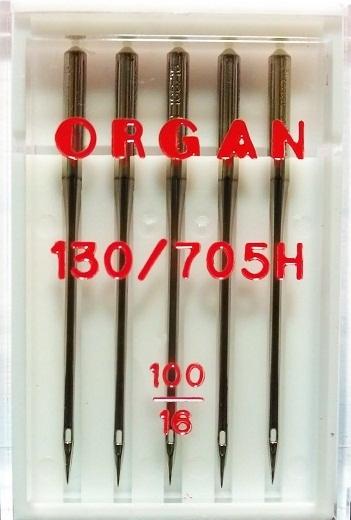Иглы Organ стандартные № 100, 5 шт.