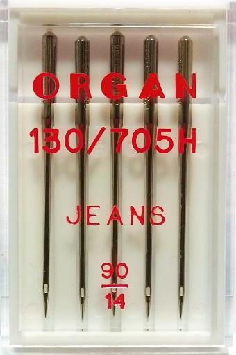 Иглы Organ джинс № 90, 5 шт.