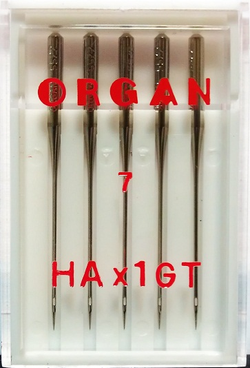 Иглы Organ креп № 55, 5 шт.