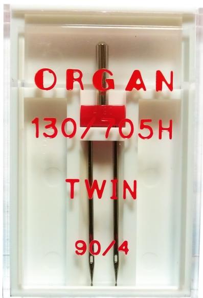 Иглы Organ двойные стандартные № 90/4.0, 1 шт.