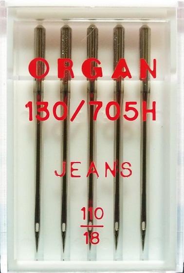 Иглы Organ джинс № 110, 5 шт.