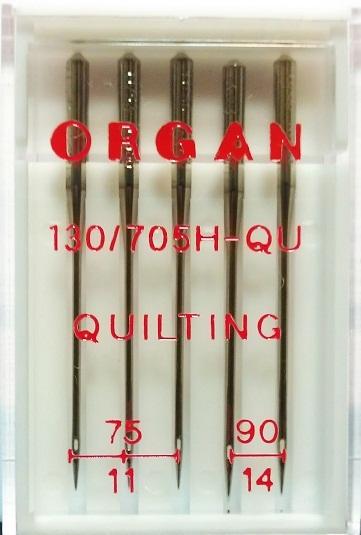 Иглы Organ для квилтинга № 75(3), 90(2), 5 шт.