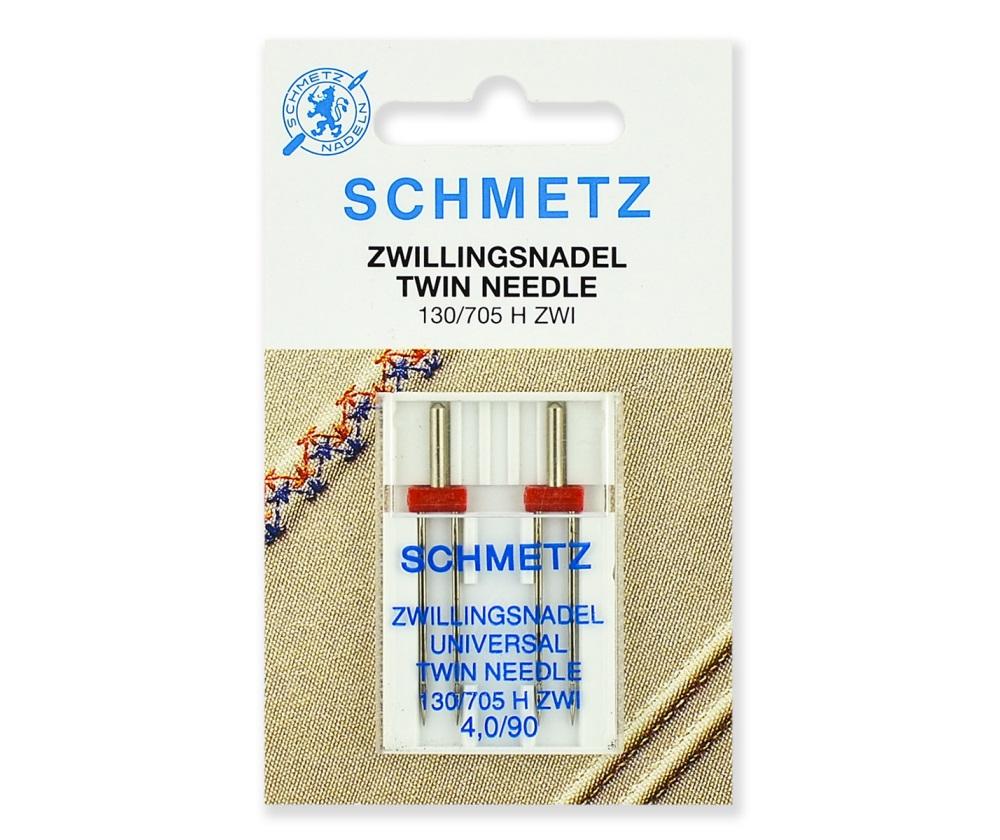 Иглы Schmetz двойные стандартные № 90/4.0, 2 шт.